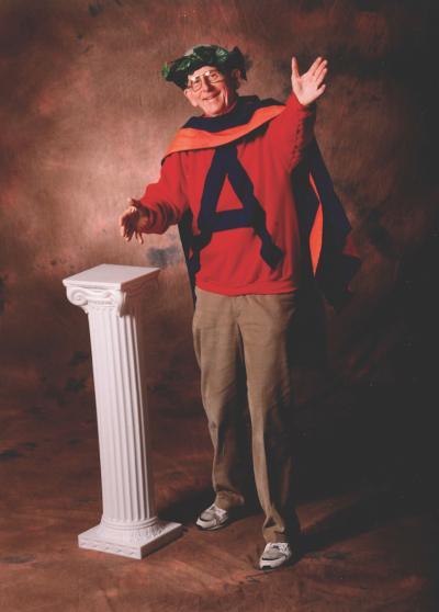 Legendary Professor of Classics Richard Scanlan as Apollo