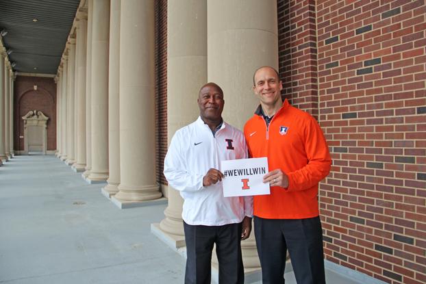 Lovie Smith and Illinois Director of Athletics Josh Whitman