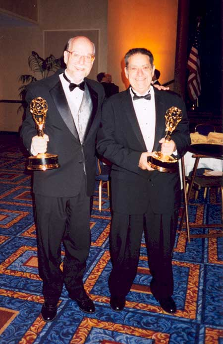Robert Willson and Don Bitzer with their Emmy Awards.